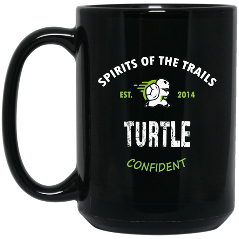 Turtle - Medallion15 oz. Black Mug