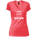 Keep Calm Raven - Ladies' Vintage Wash V-Neck T-Shirt - Ultrakoala Trial, Hiking, Biking and Camping Gear