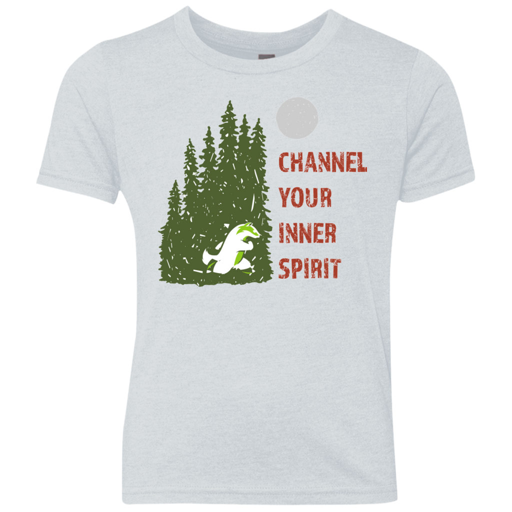 Badger - Channel Your Inner Spirit Boys Triblend Crew - Ultrakoala Trial, Hiking, Biking and Camping Gear