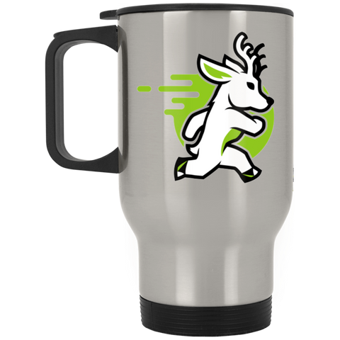 Deer - Silver Stainless 14oz Travel Mug - Ultrakoala Trial, Hiking, Biking and Camping Gear