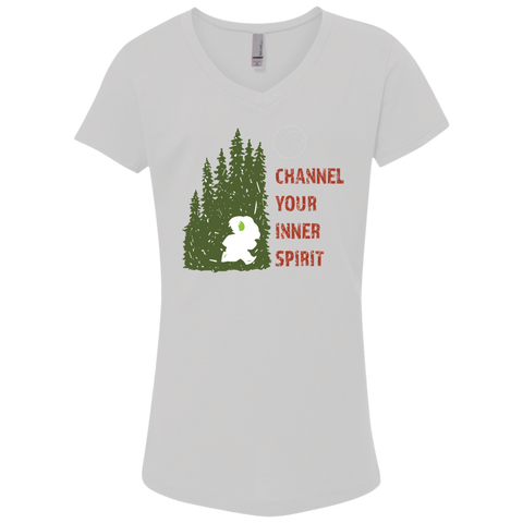 Koala - Channel Your Inner Spirit Girls' Princess V-Neck T-Shirt - Ultrakoala Trial, Hiking, Biking and Camping Gear