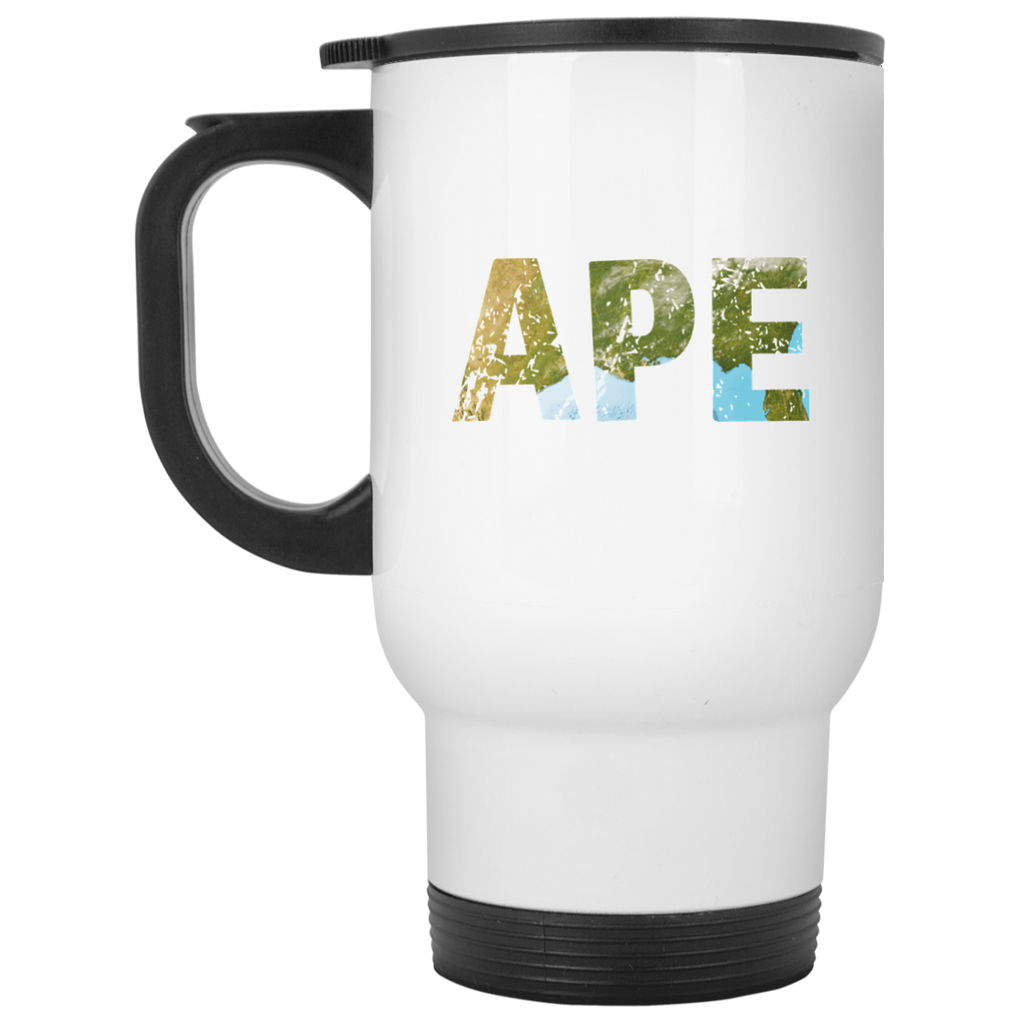 Ape - White 14oz Travel Mug - Ultrakoala Trial, Hiking, Biking and Camping Gear