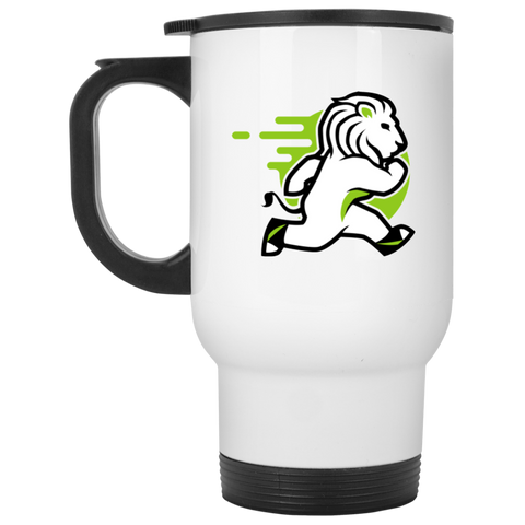 Lion - White 14oz Travel Mug - Ultrakoala Trial, Hiking, Biking and Camping Gear