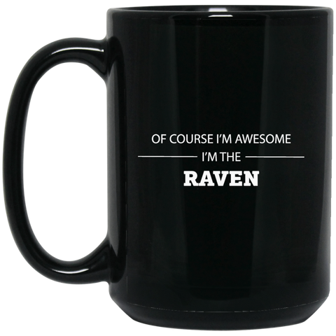 Raven Awesome 15 oz. Black Mug