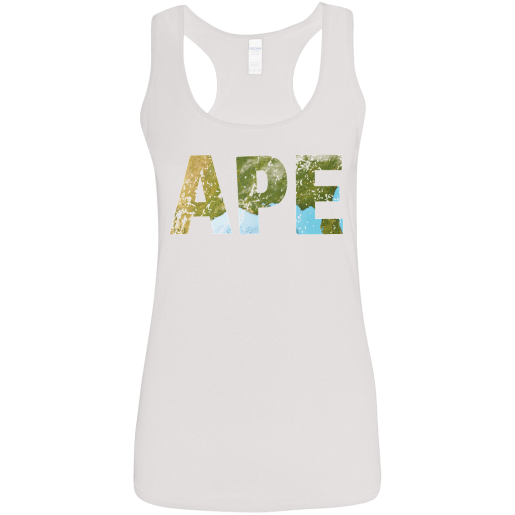 Ape - Ladies' Softstyle Racerback Tank - Ultrakoala Trial, Hiking, Biking and Camping Gear