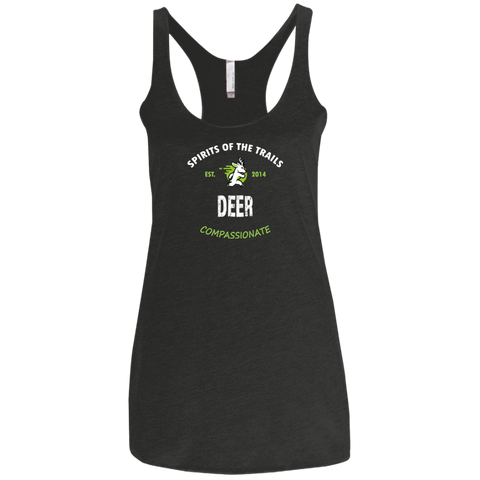 Deer - Est. 2014 Ladies' Triblend Racerback Tank - Ultrakoala Trial, Hiking, Biking and Camping Gear