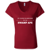 Awesome Swamp Ape - Ladies' Jersey V-Neck T-Shirt - Ultrakoala Trial, Hiking, Biking and Camping Gear