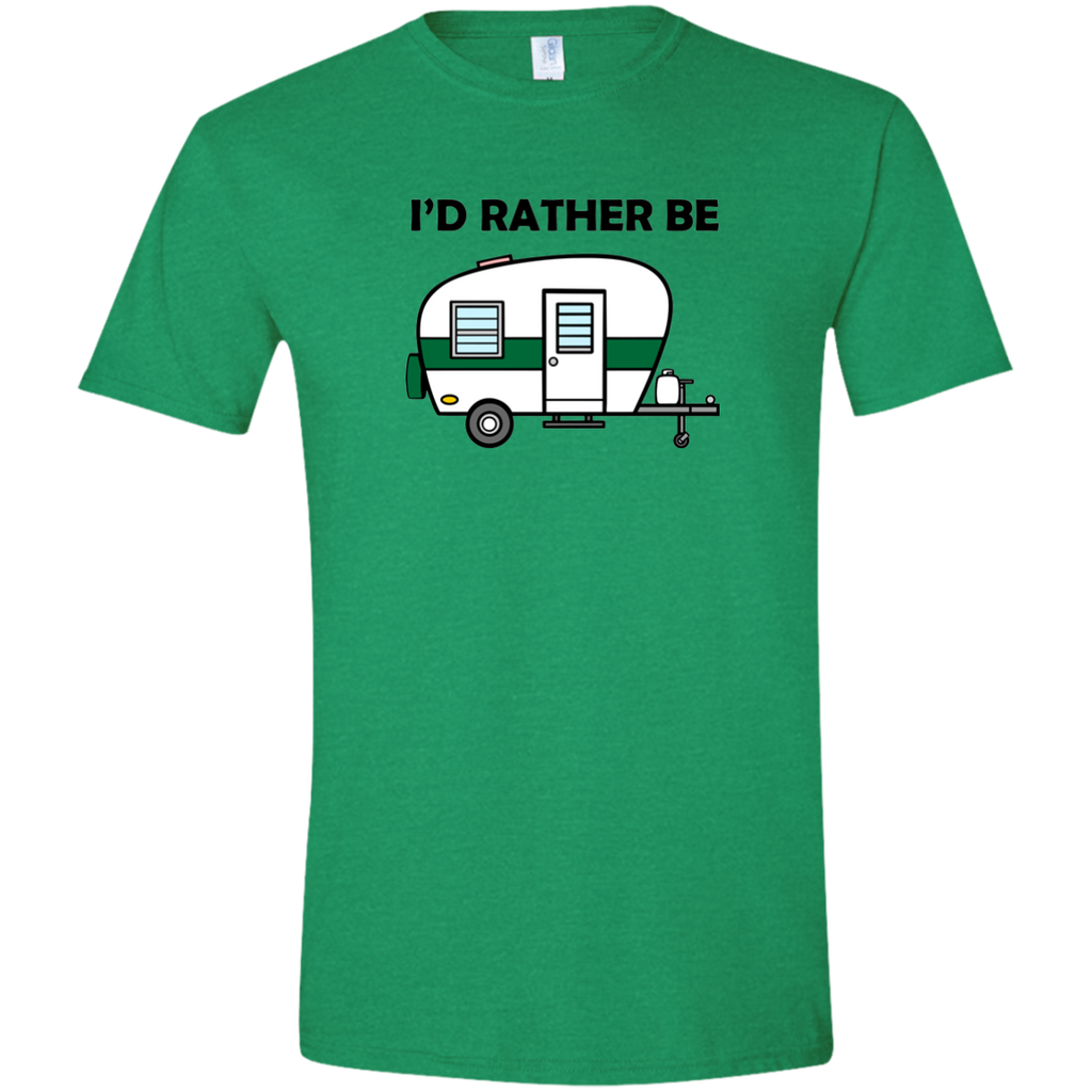 I'd Rather Be Camping - Men's Softstyle T-Shirt - Ultrakoala Trial, Hiking, Biking and Camping Gear