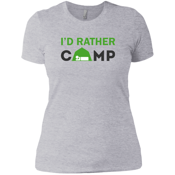 I'd Rather Camp -  Ladies' Boyfriend T-Shirt - Ultrakoala Trial, Hiking, Biking and Camping Gear