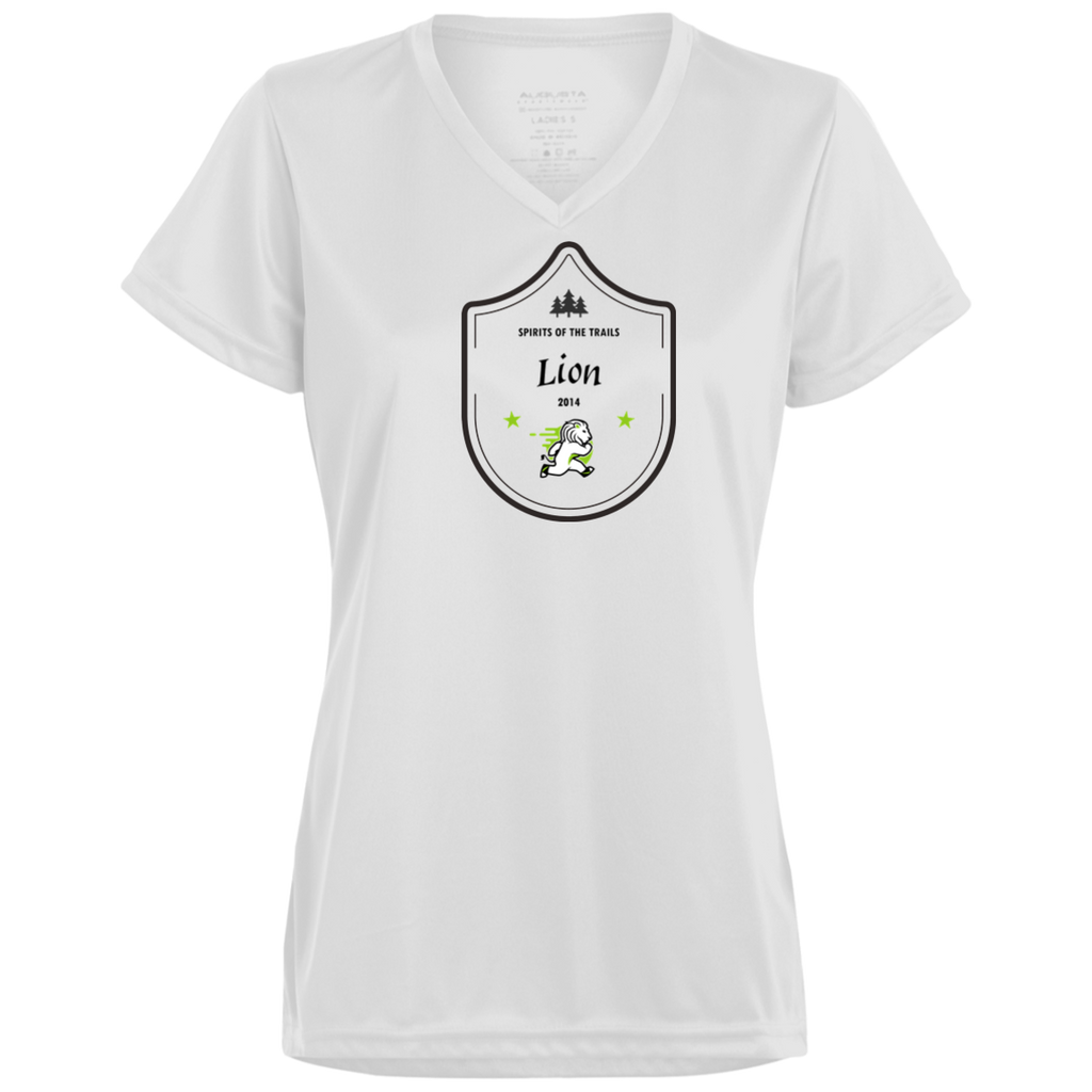 Lion Medallion - Ladies' Moisture Wicking T-Shirt - Ultrakoala Trial, Hiking, Biking and Camping Gear