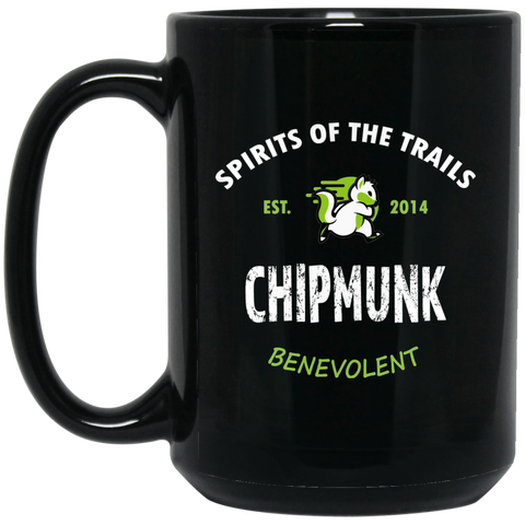 Chipmunk - Medallion15 oz. Black Mug - Ultrakoala Trial, Hiking, Biking and Camping Gear