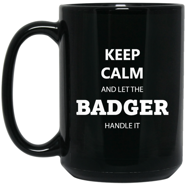 Badger Awesome 15 oz. Black Mug - Ultrakoala Trial, Hiking, Biking and Camping Gear