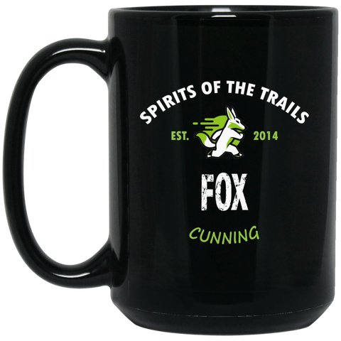 Fox - Medallion15 oz. Black Mug - Ultrakoala Trial, Hiking, Biking and Camping Gear