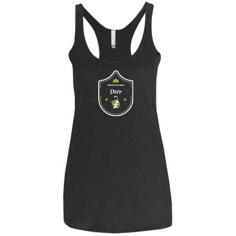 Deer - Medallion Ladies' Triblend Racerback Tank - Ultrakoala Trial, Hiking, Biking and Camping Gear