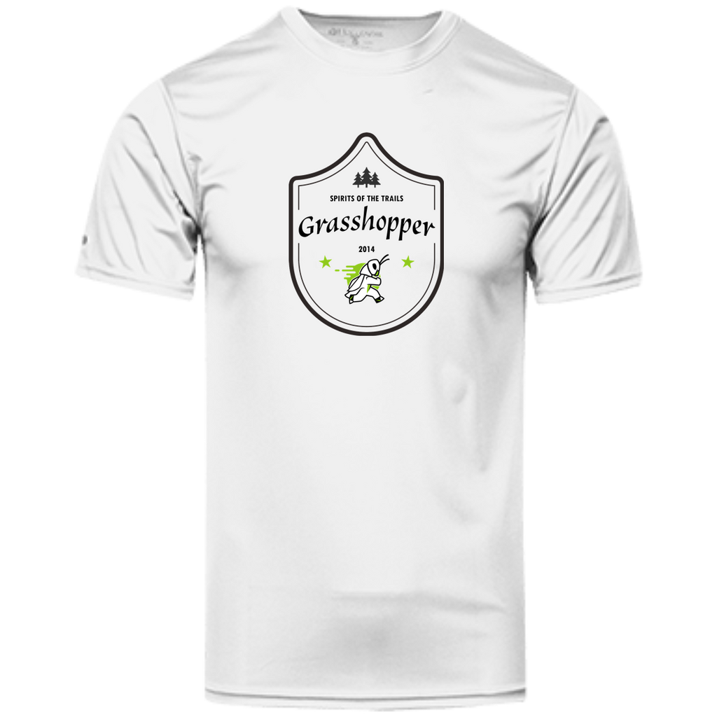 Grasshopper Medallion - Men's 100% Dry-Excel™ Wicking Polyester T-Shirt - Ultrakoala Trial, Hiking, Biking and Camping Gear