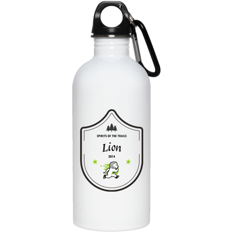Lion Medallion - 20 oz. Stainless Steel Water Bottle - Ultrakoala Trial, Hiking, Biking and Camping Gear