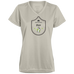 Deer Medallion - Ladies' Moisture Wicking T-Shirt - Ultrakoala Trial, Hiking, Biking and Camping Gear