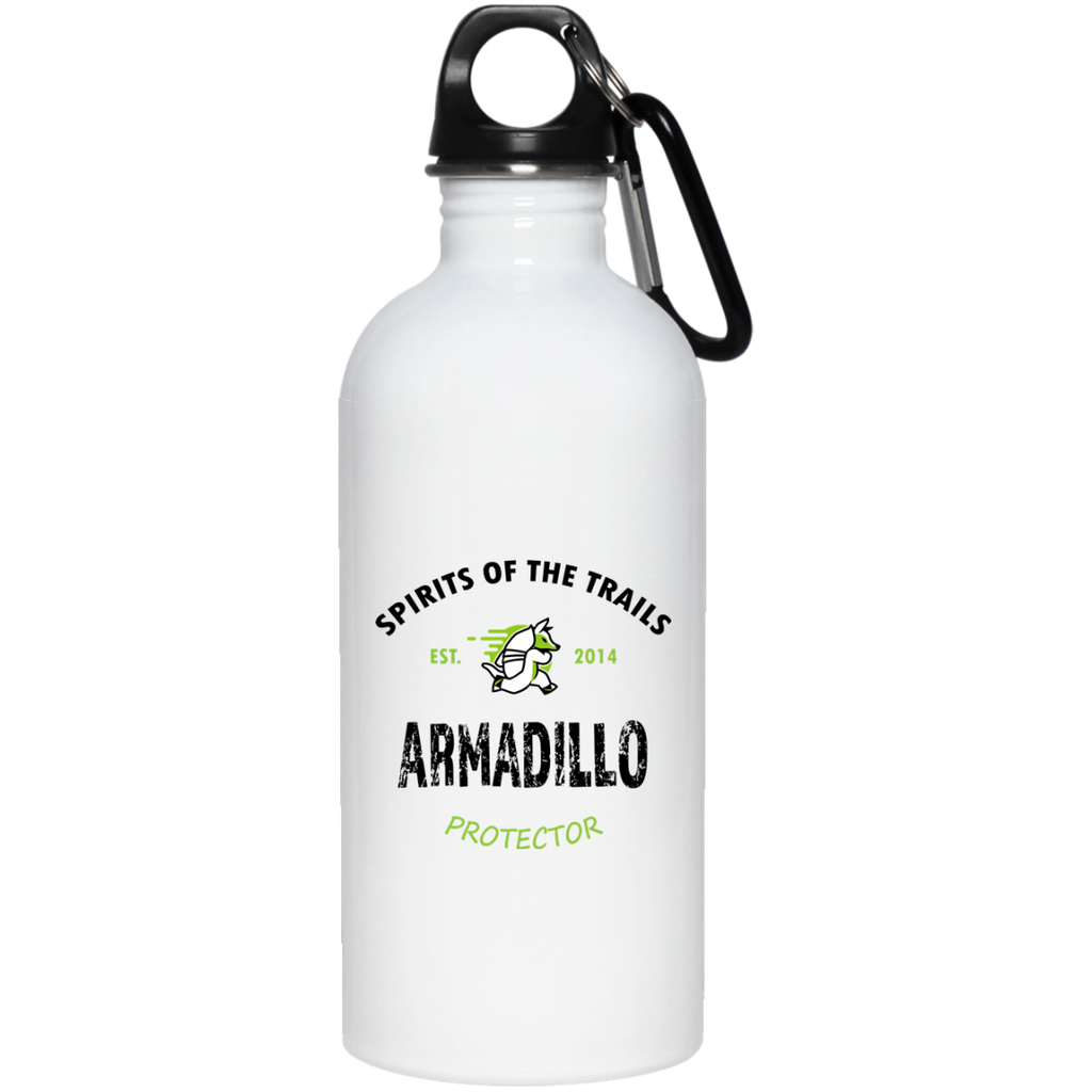 Armadillo - Est. 2014 20 oz. Stainless Steel Water Bottle - Ultrakoala Trial, Hiking, Biking and Camping Gear