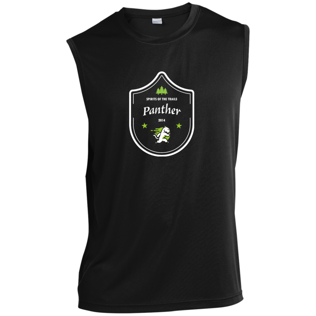 Panther  - Medallion Moisture Wicking Men's Sleeveless Performance T-Shirt - Ultrakoala Trial, Hiking, Biking and Camping Gear