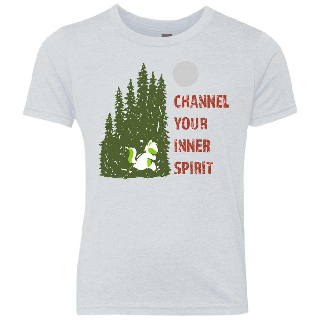 Chipmunk - Channel Your Inner Spirit Boys Triblend Crew - Ultrakoala Trial, Hiking, Biking and Camping Gear