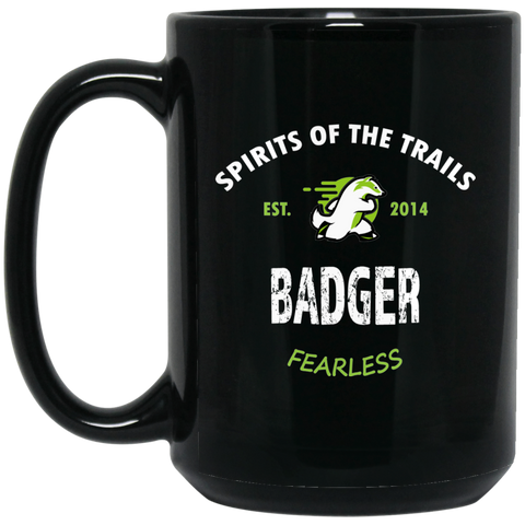 Badger - Medallion15 oz. Black Mug - Ultrakoala Trial, Hiking, Biking and Camping Gear