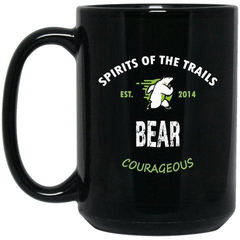 Bear - Medallion15 oz. Black Mug - Ultrakoala Trial, Hiking, Biking and Camping Gear