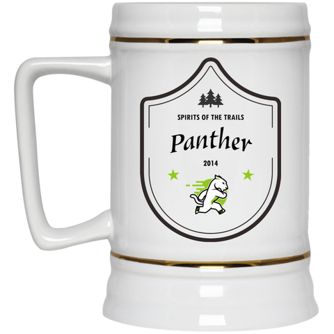 Panther - Medallion Beer Stein 22oz. - Ultrakoala Trial, Hiking, Biking and Camping Gear