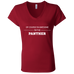 Awesome Panther - Ladies' Jersey V-Neck T-Shirt - Ultrakoala Trial, Hiking, Biking and Camping Gear