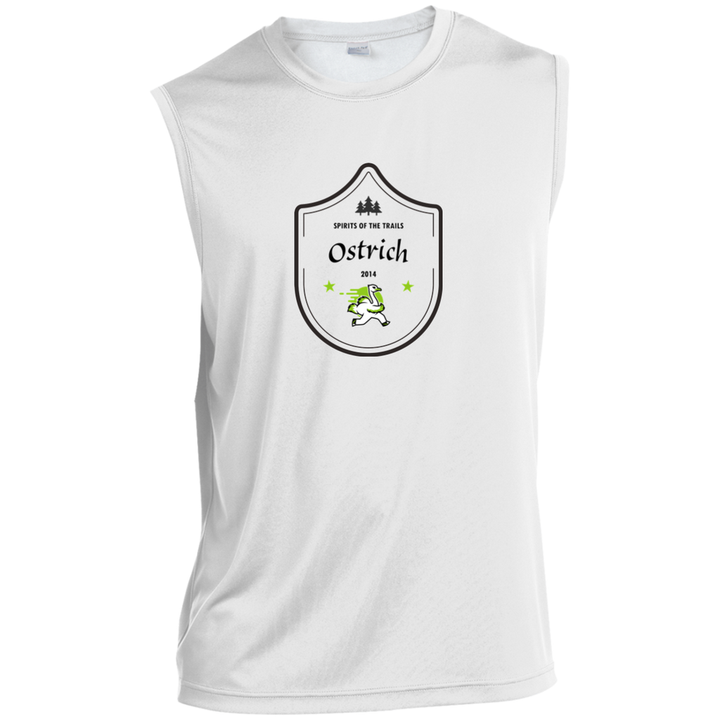 Ostrich Medallion - Sleeveless Moisture Wicking Performance T-Shirt - Ultrakoala Trial, Hiking, Biking and Camping Gear