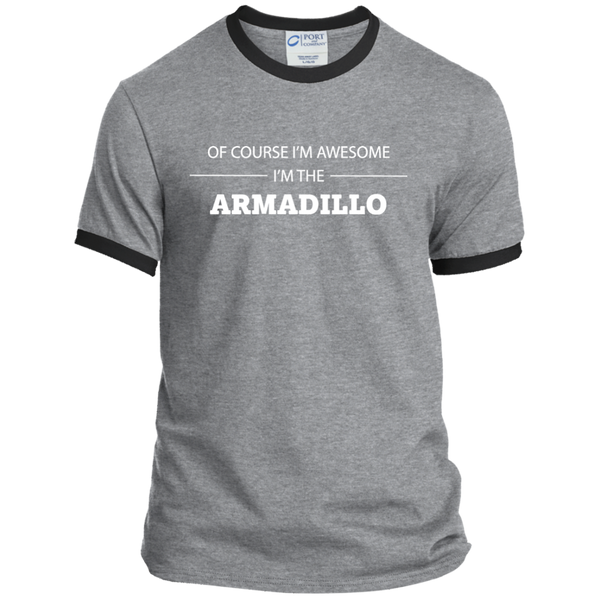 Awesome Armadillo - Men's Ringer Tee - Ultrakoala Trial, Hiking, Biking and Camping Gear