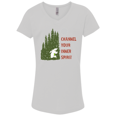 Bear - Channel Your Inner Spirit Girls' Princess V-Neck T-Shirt - Ultrakoala Trial, Hiking, Biking and Camping Gear