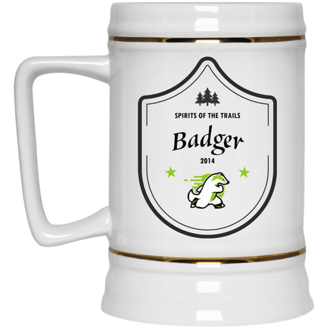 Badger - Medallion Beer Stein 22oz. - Ultrakoala Trial, Hiking, Biking and Camping Gear