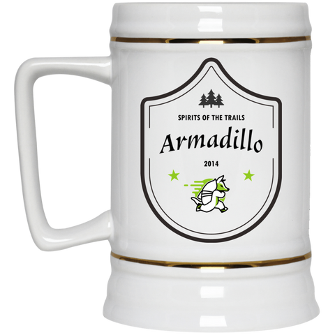 Armadillo - Medallion Beer Stein 22oz. - Ultrakoala Trial, Hiking, Biking and Camping Gear