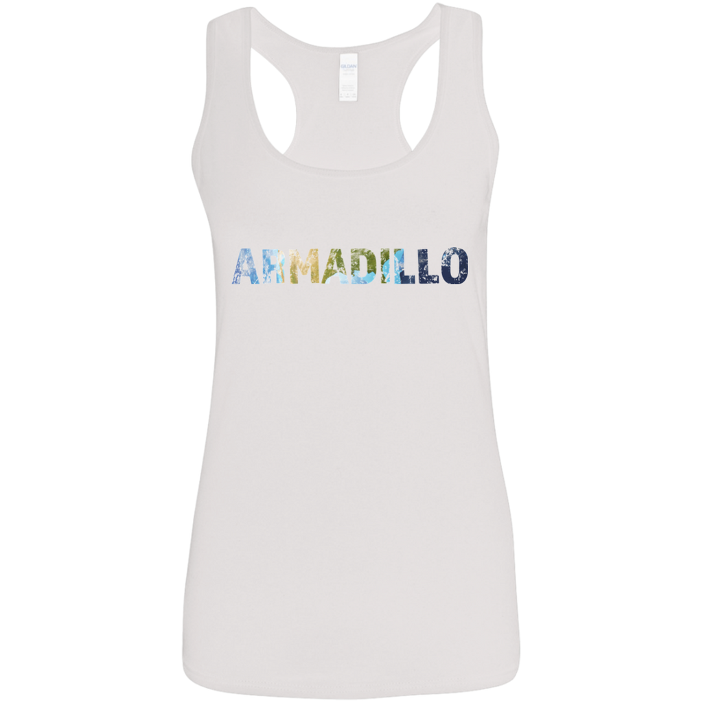 Aramadillo -  Ladies' Softstyle Racerback Tank - Ultrakoala Trial, Hiking, Biking and Camping Gear