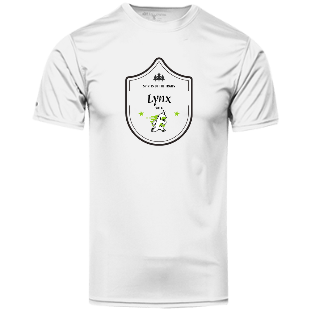 Lynx Medallion - Men's 100% Dry-Excel™ Wicking Polyester T-Shirt - Ultrakoala Trial, Hiking, Biking and Camping Gear