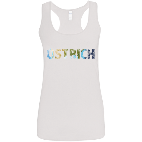Ostrich - Ladies' Softstyle Racerback Tank - Ultrakoala Trial, Hiking, Biking and Camping Gear