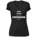 Keep Calm Chipmunk - Ladies' Vintage Wash V-Neck T-Shirt - Ultrakoala Trial, Hiking, Biking and Camping Gear