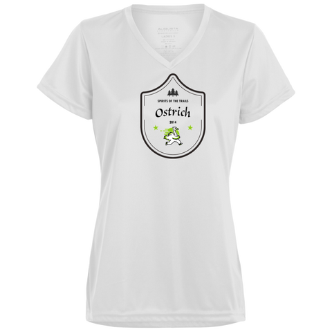 Ostrich Medallion - Ladies' Moisture Wicking T-Shirt - Ultrakoala Trial, Hiking, Biking and Camping Gear