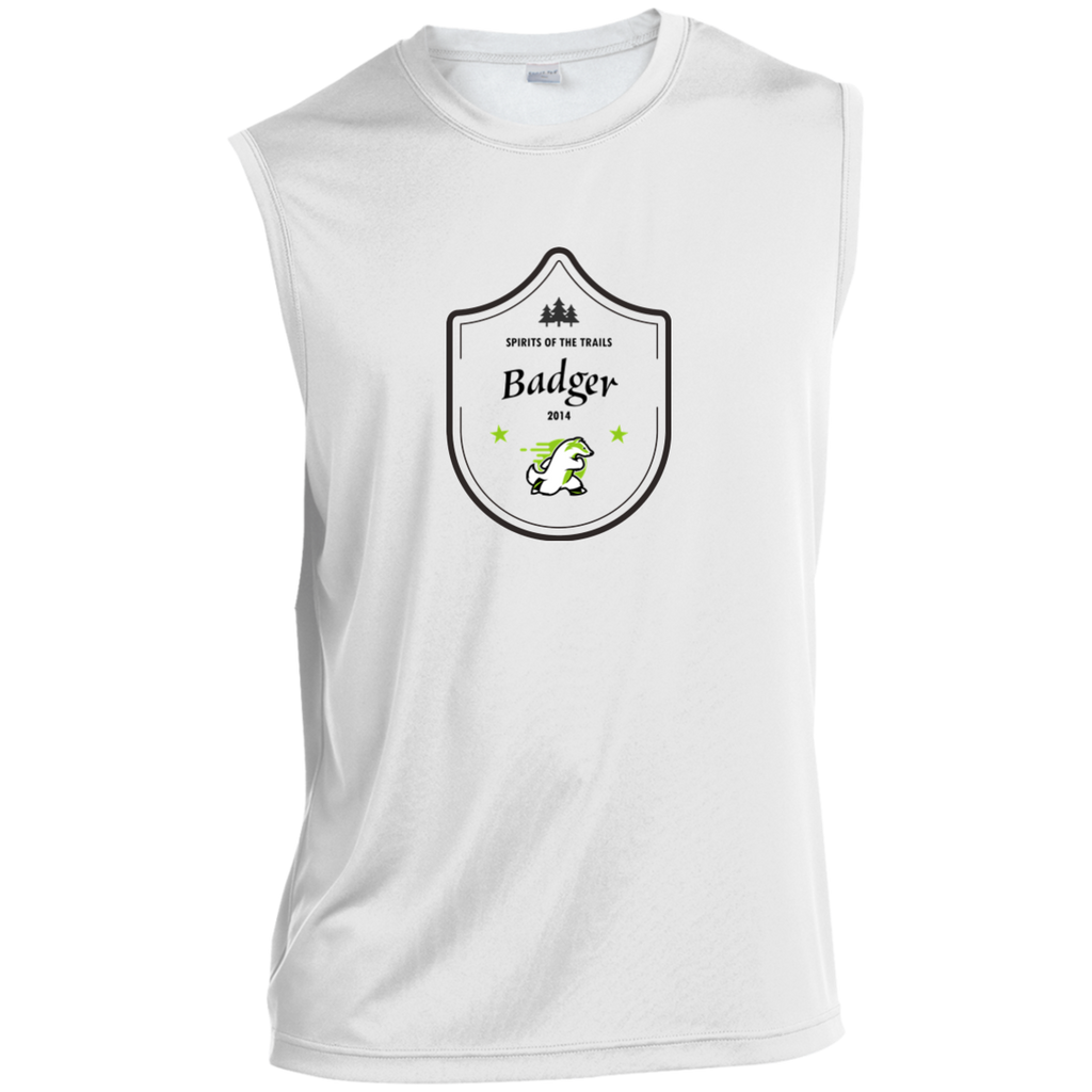 Badger Medallion - Sleeveless Moisture Wicking Performance T-Shirt - Ultrakoala Trial, Hiking, Biking and Camping Gear