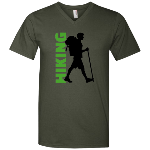 Hiking - Men's Printed V-Neck T-Shirt - Ultrakoala Trial, Hiking, Biking and Camping Gear