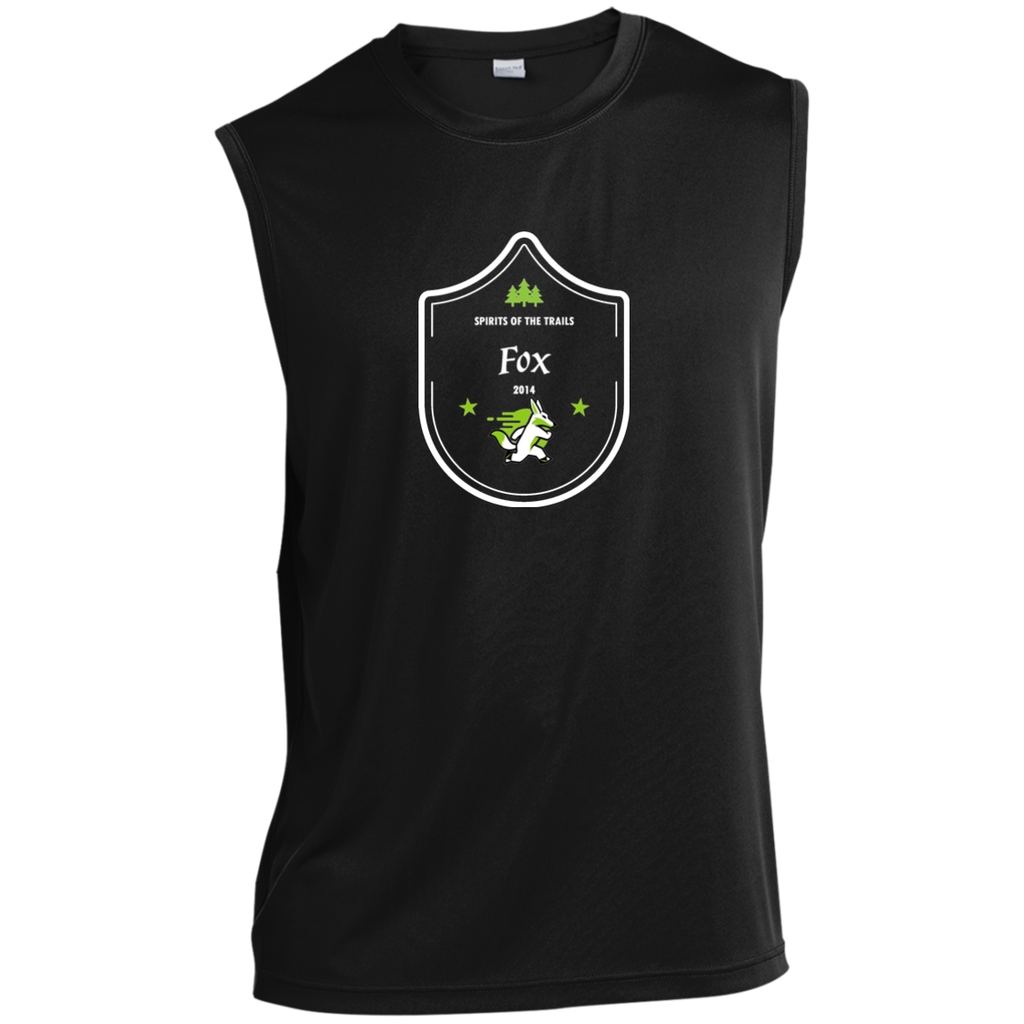 Fox  - Medallion Moisture Wicking Men's Sleeveless Performance T-Shirt - Ultrakoala Trial, Hiking, Biking and Camping Gear