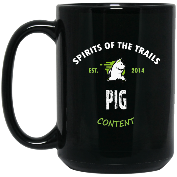 Pig - Medallion15 oz. Black Mug