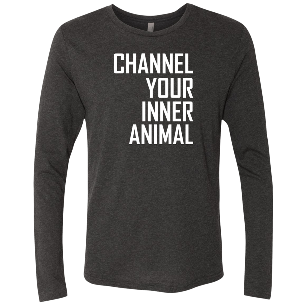 Channel Your Inner Animal - Men's Triblend LS Crew - Ultrakoala Trial, Hiking, Biking and Camping Gear