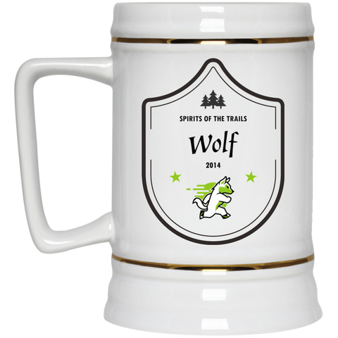 Wolf - Medallion Beer Stein 22oz.