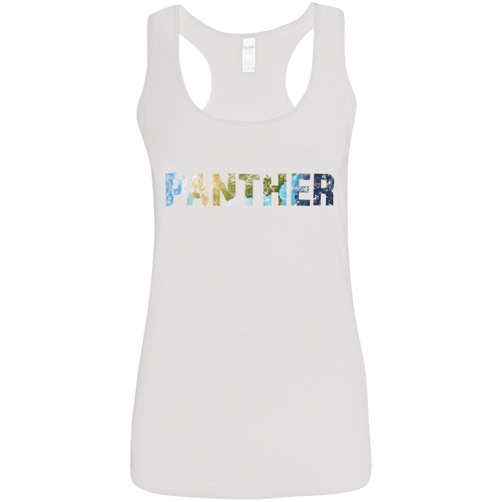 Panther - Ladies' Softstyle Racerback Tank - Ultrakoala Trial, Hiking, Biking and Camping Gear