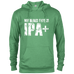 My Blood Type is IPA+ Mens Delta French Terry Hoodie - Ultrakoala Trial, Hiking, Biking and Camping Gear