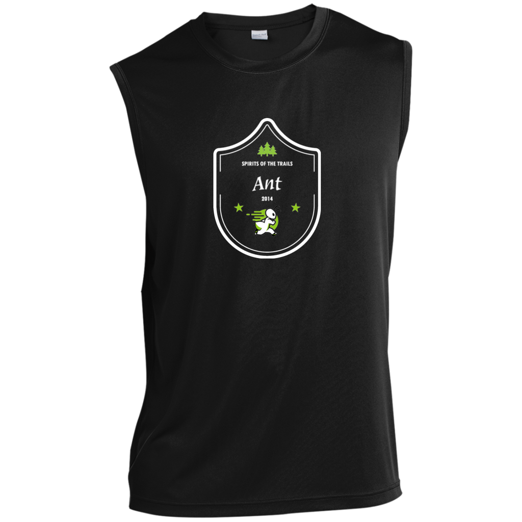 Ant  - Medallion Moisture Wicking Men's Sleeveless Performance T-Shirt - Ultrakoala Trial, Hiking, Biking and Camping Gear