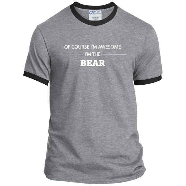 Awesome Bear - Men's Ringer Tee - Ultrakoala Trial, Hiking, Biking and Camping Gear