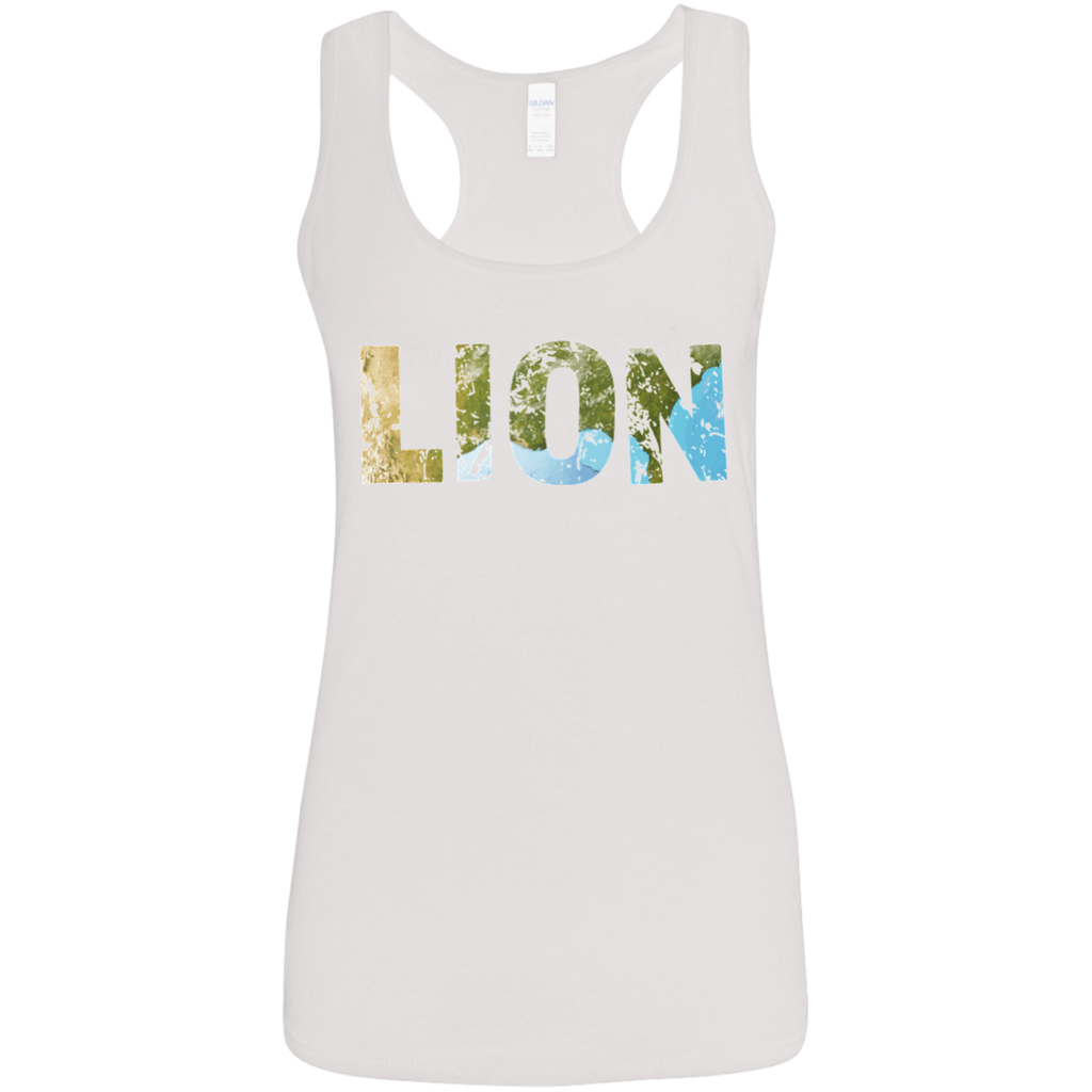 Lion - Ladies' Softstyle Racerback Tank - Ultrakoala Trial, Hiking, Biking and Camping Gear