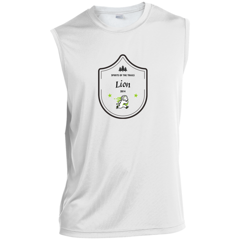 Lion Medallion - Sleeveless Moisture Wicking Performance T-Shirt - Ultrakoala Trial, Hiking, Biking and Camping Gear